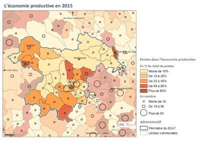PETR Causses et Cévennes: l'économie productive en 2015