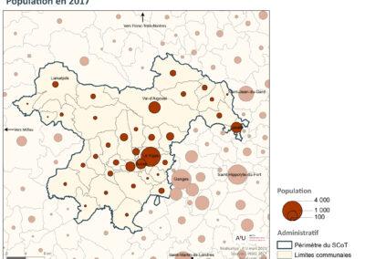 PETR Causses et Cévennes: Population en 2017