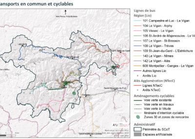 PETR Causses et Cévennes: Transports en commun et cyclables